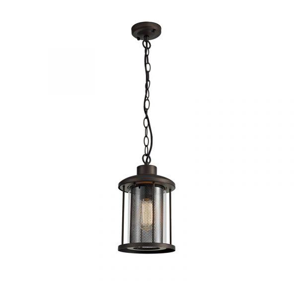 Lichfield Lighting Austin Pendant, 1 x E27, Antique Bronze/Clear Glass, IP54, 2yrs Warranty photo