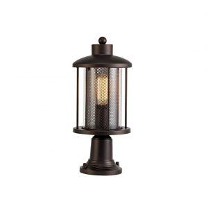 Lichfield Lighting Austin Pedestal Lamp, 1 x E27, Antique Bronze/Clear Glass, IP54, 2yrs Warranty photo