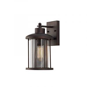 Lichfield Lighting Austin Large Wall Lamp, 1 x E27, Antique Bronze/Clear Glass, IP54, 2yrs photo 1