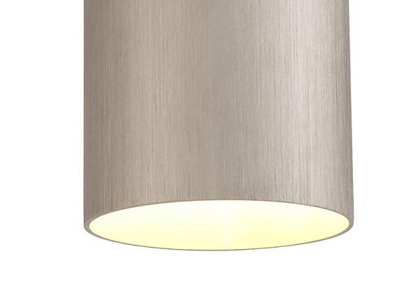 Lichfield Lighting Agincourt Single Pendant, 1 x E27, Satin Nickel/Polished Chrome photo 2