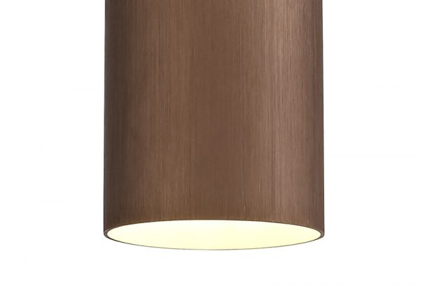 Lichfield Lighting Agincourt Single Pendant, 1 x E27, Coffee/Polished Chrome photo 2