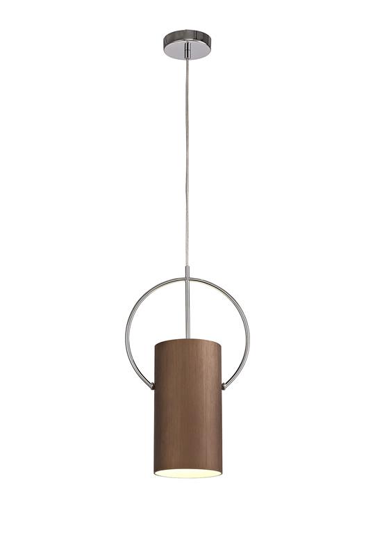 Lichfield Lighting Agincourt Single Pendant, 1 x E27, Coffee/Polished Chrome photo 1