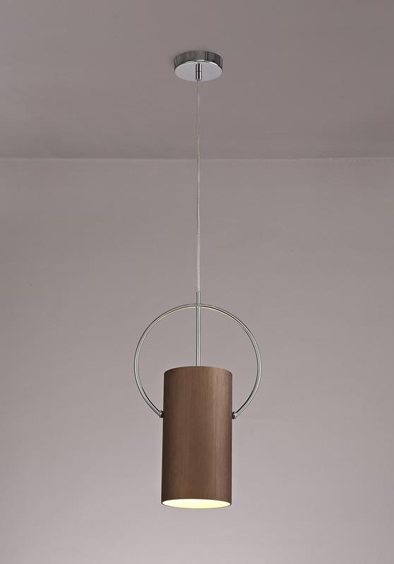 Lichfield Lighting Agincourt Single Pendant, 1 x E27, Coffee/Polished Chrome photo 4
