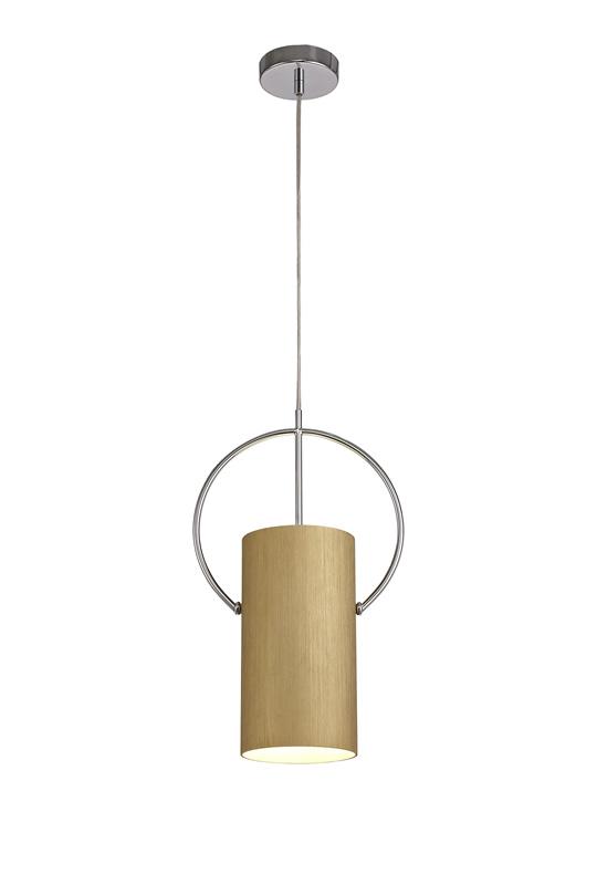 Lichfield Lighting Agincourt Single Pendant, 1 x E27, Gold/Polished Chrome photo 1