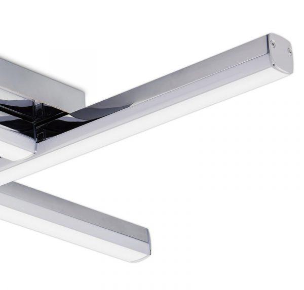 Lichfield Lighting Alamein 4 Light Ceiling, 4 x 6W LED, 4000K, 2210lm, IP44, Polished Chrome, 3yrs Warranty photo 3