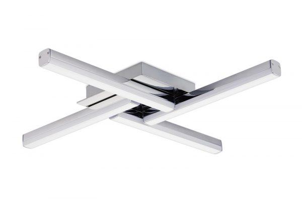 Lichfield Lighting Alamein 4 Light Ceiling, 4 x 6W LED, 4000K, 2210lm, IP44, Polished Chrome, 3yrs Warranty photo 2
