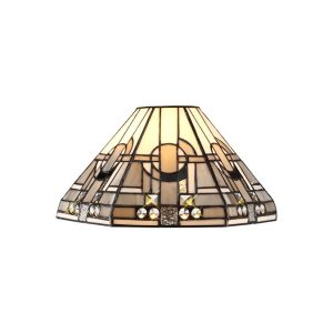 Lichfield Lighting April, Tiffany 30cm Non-electric Shade Suitable For Pendant/Ceiling/Table Lamp, White/Grey/Black/Clear Crystal photo 1