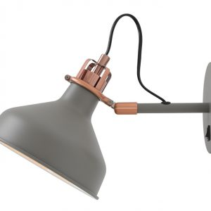 Lichfield Lighting Barn Adjustable Wall Lamp Switched, 1 x E27, Sand Grey/Copper/White photo 1