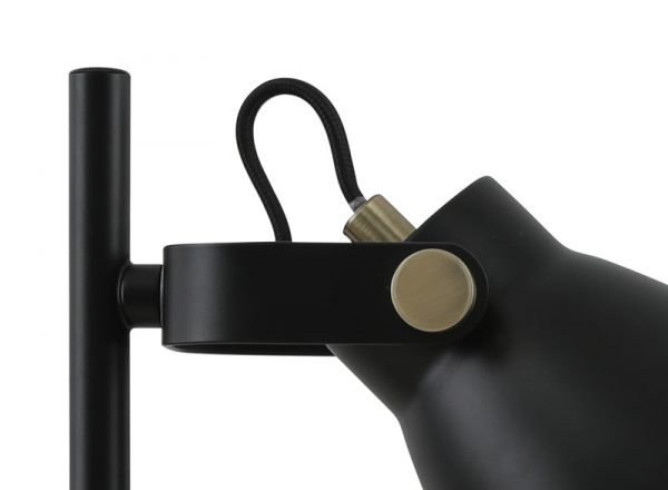 Lichfield Lighting Benson Adjustable Table Lamp, 1 x E27, Matt Black/Antique Brass/Khaki photo 2