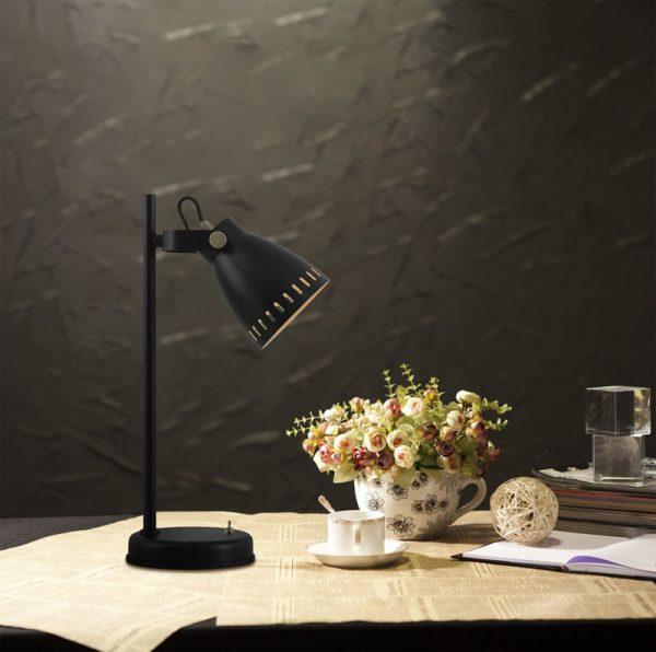 Lichfield Lighting Benson Adjustable Table Lamp, 1 x E27, Matt Black/Antique Brass/Khaki photo 3