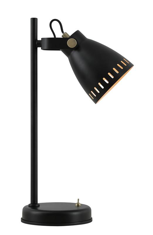 Lichfield Lighting Benson Adjustable Table Lamp, 1 x E27, Matt Black/Antique Brass/Khaki photo 1