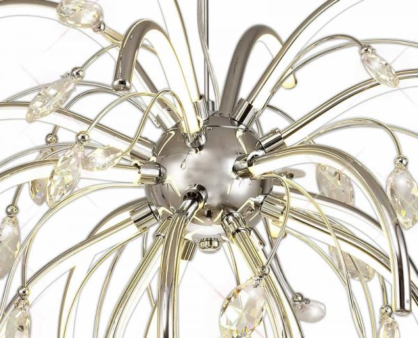 Lichfield Lighting Catherdral Large Pendant, 20 x 4.5W LED, 3000K, 2549lm, Polished Chrome, 3yrs Warranty photo 3