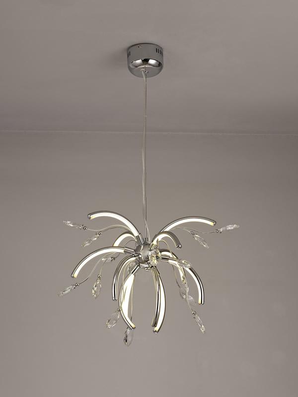 Lichfield Lighting Catherdral Medium Pendant, 12 x 2.5W LED, 3000K, 1243lm, Polished Chrome, 3yrs Warranty photo 4