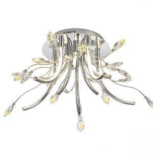 Lichfield Lighting Catherdral Medium Celing, 10 x 3.5W LED, 3000K, 1146lm, Polished Chrome, 3yrs Warranty photo 1