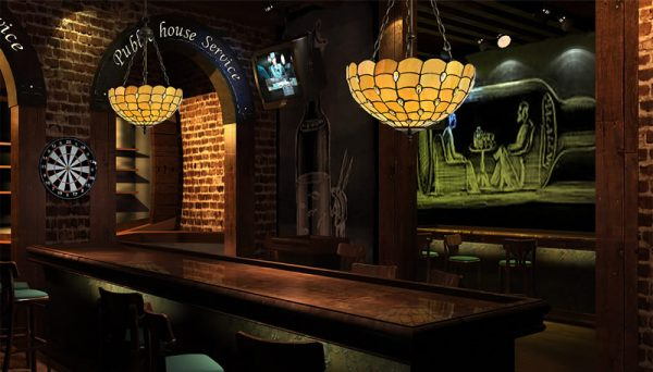 Lichfield Lighting Market Octagonal Floor Lamp, 2 x E27, Aged Antique Brass photo 3