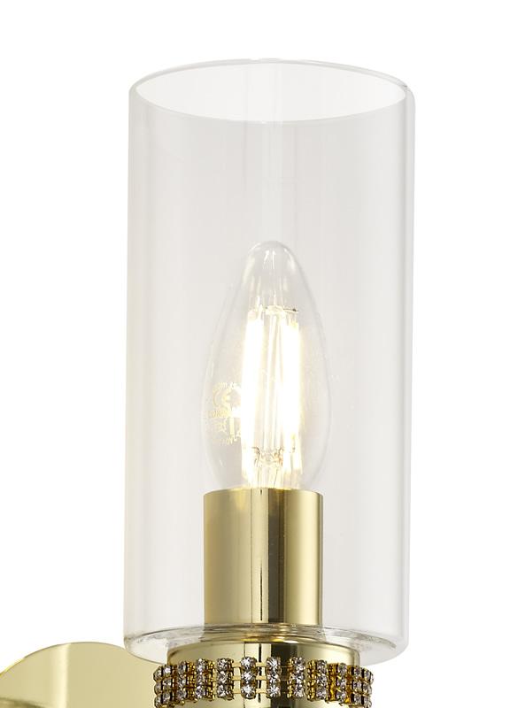Lichfield Lighting Darnford Wall Lamp Switched, 1 x E14, Polished Gold photo 2