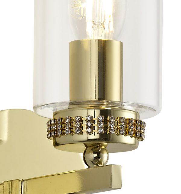 Lichfield Lighting Darnford Wall Lamp Switched, 1 x E14, Polished Gold photo 3