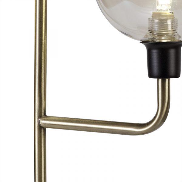 Lichfield Lighting Davidson Table Lamp, 2 Light G9, Matt Black/Antique Brass/Cognac Glass photo 2