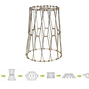 Lichfield Lighting Fern, 30cm Non-Electric French Gold Adjustable & Flexible Shade photo 1