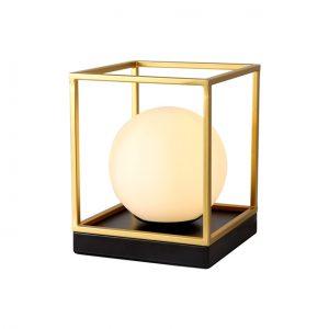 Lichfield Lighting Hartslade Table Lamp, 1 Light E14, Matt Black/Painted Gold photo 1