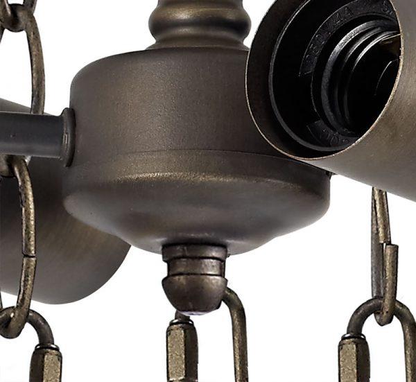 Lichfield Lighting Market Semi Ceiling Kit, 2 x E27, Aged Antique Brass photo 2