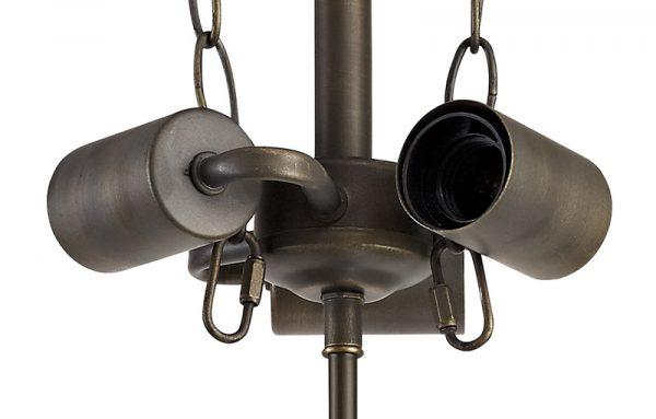 Lichfield Lighting Market Semi Ceiling Kit, 3 x E27, Aged Antique Brass photo 2