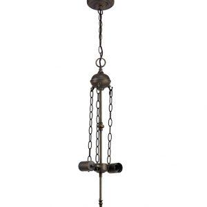 Lichfield Lighting Market Uplighter Suspension Kit, 2 x E27, Aged Antique Brass photo 1