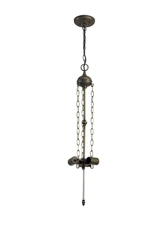 Lichfield Lighting Market Octagonal Floor Lamp, 2 x E27, Aged Antique Brass photo 1