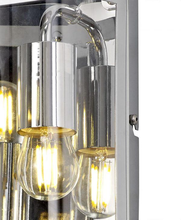 Lichfield Lighting Pinfold Wall Light, 2 Light E27, Polished Chrome photo 2