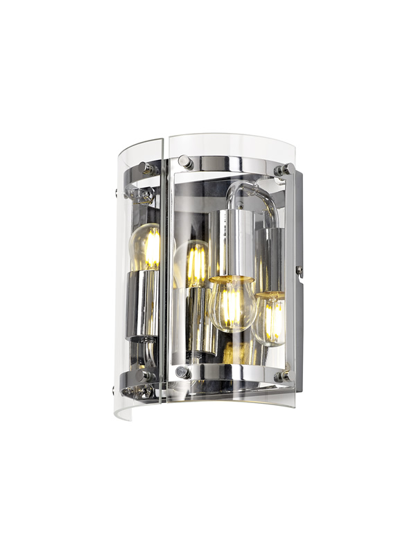 Lichfield Lighting Pinfold Wall Light, 2 Light E27, Polished Chrome photo 1