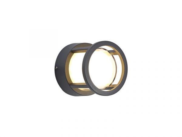 Lichfield Lighting Romilly Round Downlight, 1 x 6W LED, 3000K, 360lm, IP54, Anthracite, 3yrs Warranty photo 1