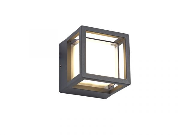 Lichfield Lighting Romilly Square Downlight, 1 x 6W LED, 3000K, 360lm, IP54, Anthracite, 3yrs Warranty photo 1