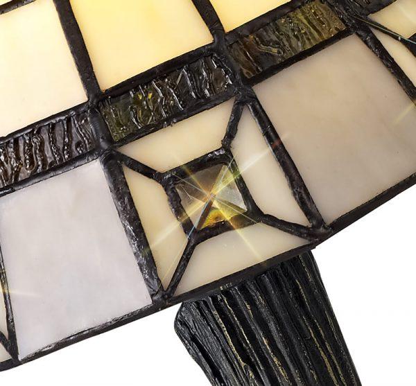 Lichfield Lighting Scott Tiffany Table Lamp, 1 x E14, Credlock/Grey/Clear Crystal Shade photo 2