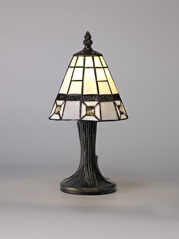 Lichfield Lighting Scott Tiffany Table Lamp, 1 x E14, Credlock/Grey/Clear Crystal Shade photo 3