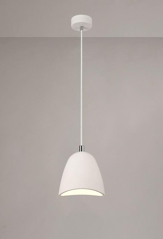 Lichfield Lighting Seward Medium Pendant, 1 x E27, White Paintable Gypsum photo 4