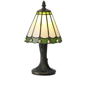 Lichfield Lighting St John Tiffany Table Lamp, 1 x E14, Credlock/Green/Clear Crystal Shade photo 1