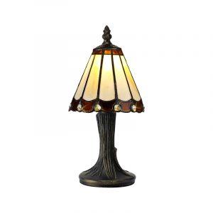 Lichfield Lighting St John Tiffany Table Lamp, 1 x E14, Credlock/Brown/Clear Crystal Shade photo 1