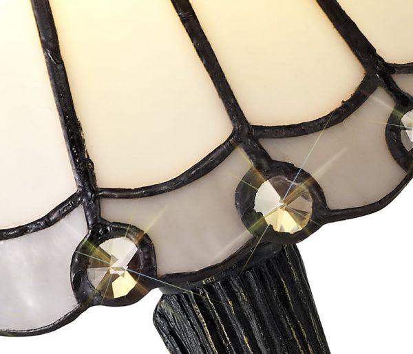 Lichfield Lighting St John Tiffany Table Lamp, 1 x E14, White/Grey/Clear Crystal Shade photo 2