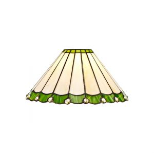 Lichfield Lighting St John Tiffany 30cm Non-Electric Shade, Green/Credlock/Crystal photo 1