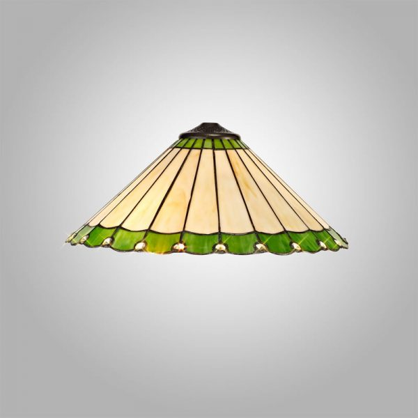 Lichfield Lighting St John Tiffany 40cm Shade Only Suitable For Pendant/Ceiling/Table Lamp, Green/Credlock/Crystal photo 3