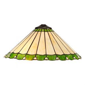 Lichfield Lighting St John Tiffany 40cm Shade Only Suitable For Pendant/Ceiling/Table Lamp, Green/Credlock/Crystal photo 1