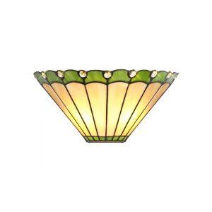 Lichfield Lighting St John Tiffany Wall Lamp, 2 x E14, Green/Credlock/Crystal photo 1
