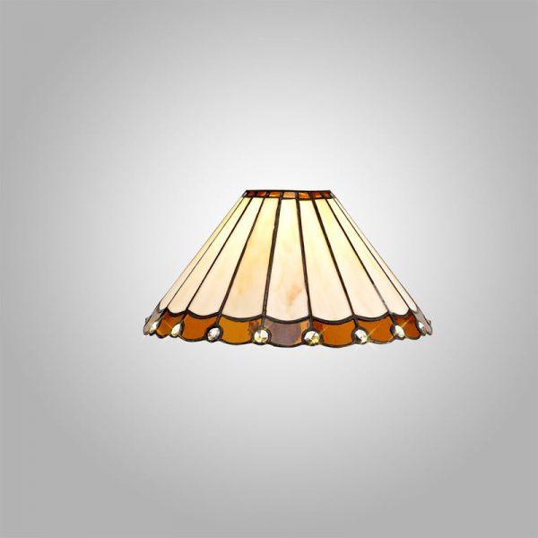 Lichfield Lighting St John Tiffany 30cm Non-Electric Shade, Amber/Credlock/Crystal photo 3