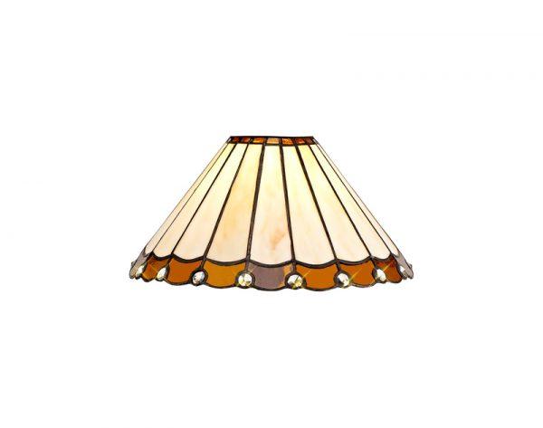 Lichfield Lighting St John Tiffany 30cm Non-Electric Shade, Amber/Credlock/Crystal photo 1