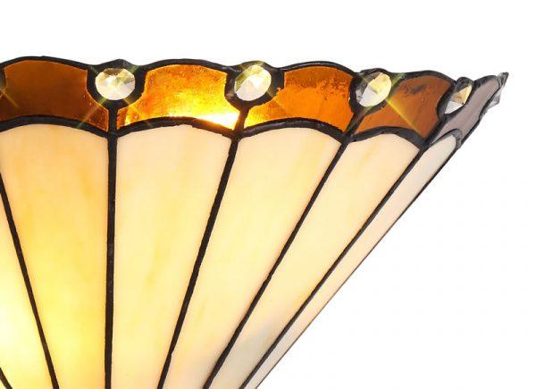 Lichfield Lighting St John Tiffany Wall Lamp, 2 x E14, Amber/Credlock/Crystal photo 2