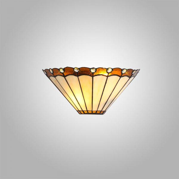 Lichfield Lighting St John Tiffany Wall Lamp, 2 x E14, Amber/Credlock/Crystal photo 3