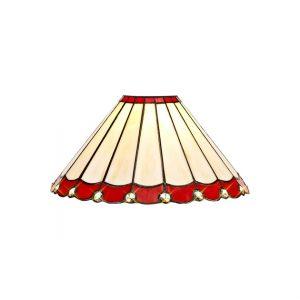 Lichfield Lighting St John Tiffany 30cm Non-Electric Shade, Red/Credlock/Crystal photo 1