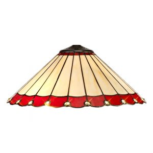 Lichfield Lighting St John Tiffany 40cm Shade Only Suitable For Pendant/Ceiling/Table Lamp, Red/Credlock/Crystal photo 1