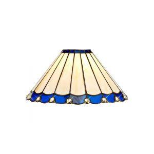 Lichfield Lighting St John Tiffany 30cm Non-Electric Shade, Blue/Credlock/Crystal photo 1