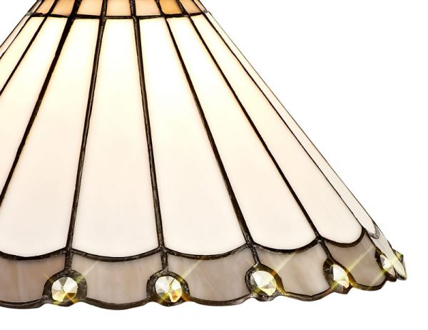 Lichfield Lighting St John Tiffany 30cm Non-Electric Shade, Grey/Credlock/Crystal photo 2